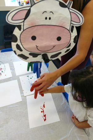 cow_dripping_paint_art_activity_winwood_childrens_center_fairfax_va-301x450