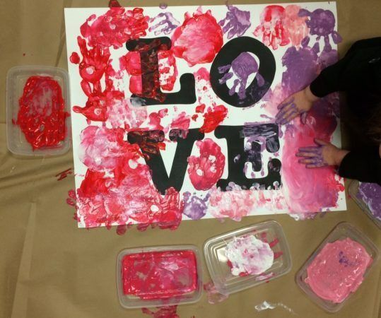 love_art_project_at_bala_cynwyd_school_for_young_children_bala_cynwyd_pa-539x450