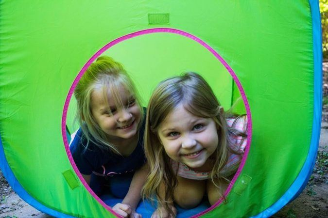 preschool_girls_in_tent_cadence_academy_preschool_harbison_columbia_sc-675x450