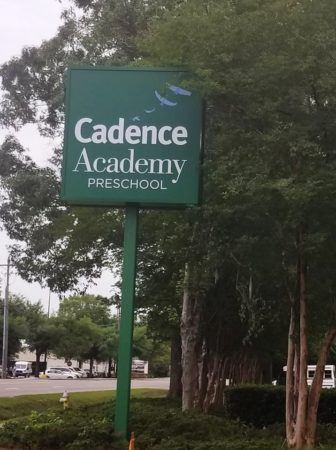 road_sign_cadence_academy_preschool_charleston_sc-336x450